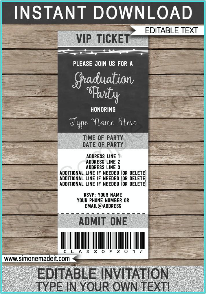 Graduation Ticket Template Free