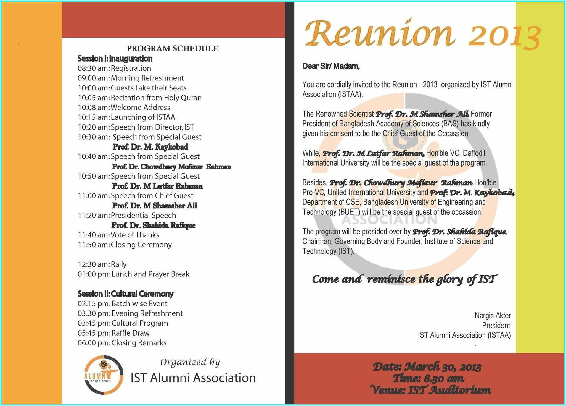 High School Class Reunion Invitation Template