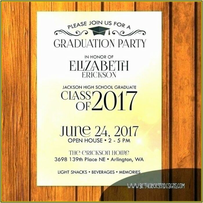 High School Open House Invitation Template