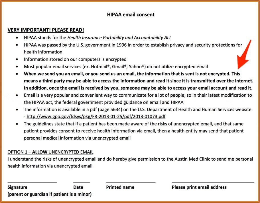 Hipaa Compliant Phi Release Form