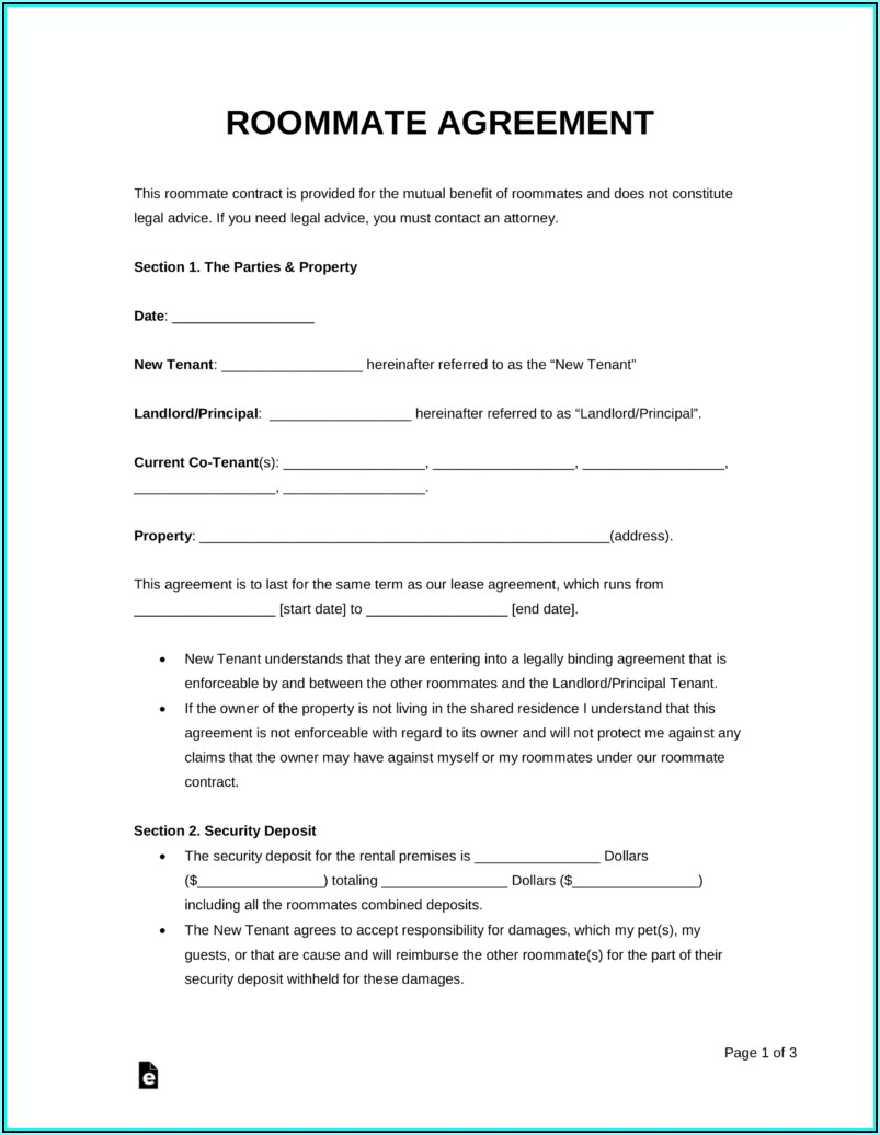 House Rental Agreement Template Pdf