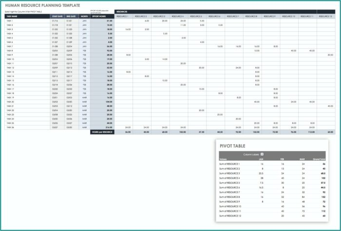 Human Resource Capacity Planning Excel Template