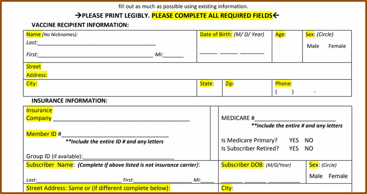 Influenza Vaccine Consent Form 2018