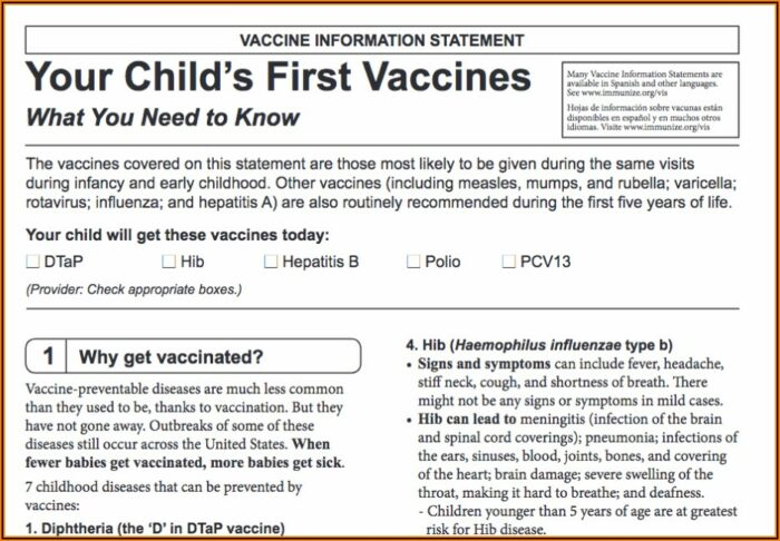 Influenza Vaccine Consent Form In Spanish
