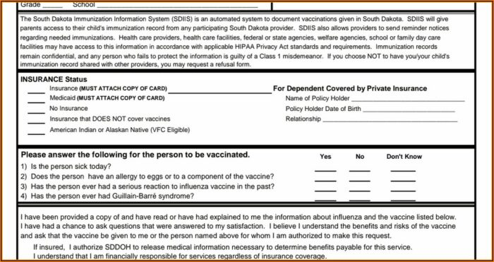 Influenza Vaccine Consent Form Pdf