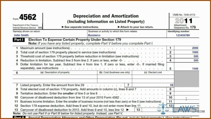 Irs Tax Form 4562 For 2014