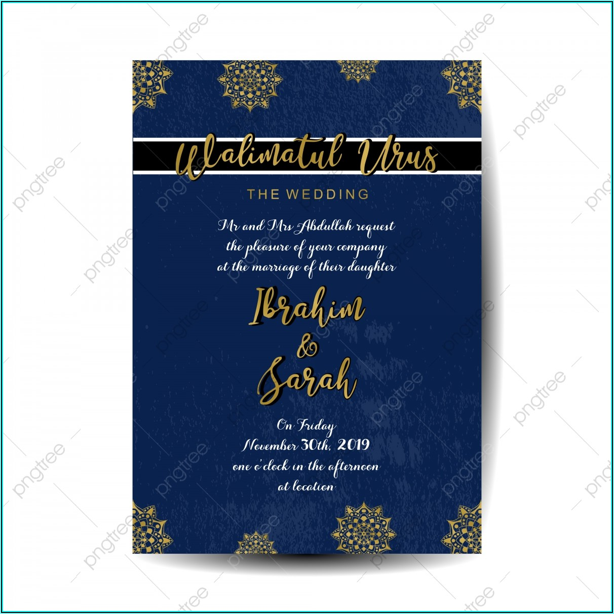 Islamic Wedding Invitation Template Free