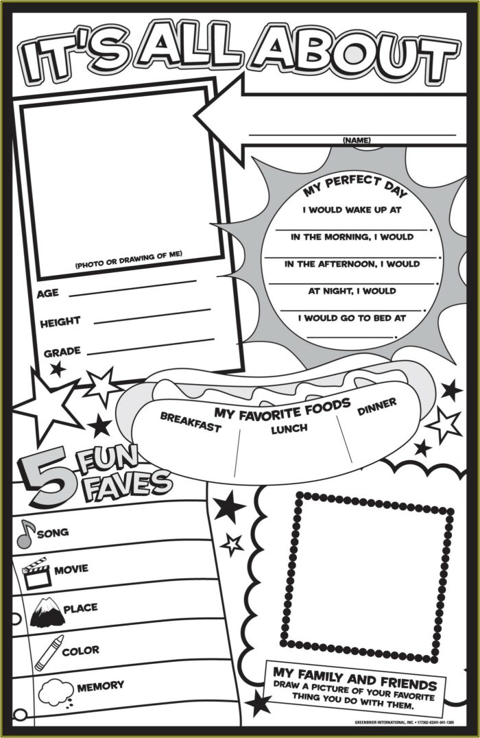 It's All About Me Poster Templates