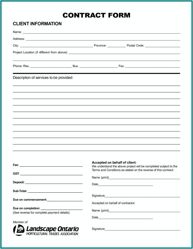 Landscape Contract Format