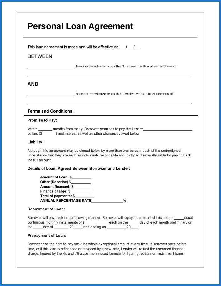 Loan Promissory Note Template Word