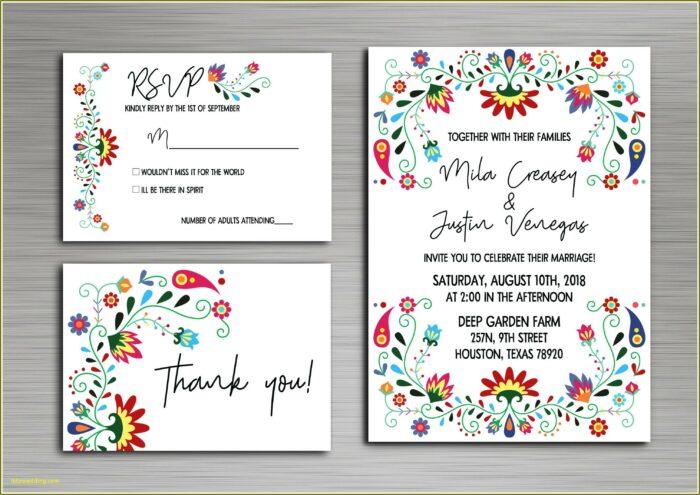 Mexican Wedding Invitations Templates