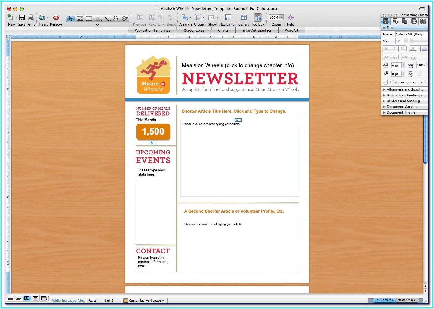 Microsoft E Newsletter Templates
