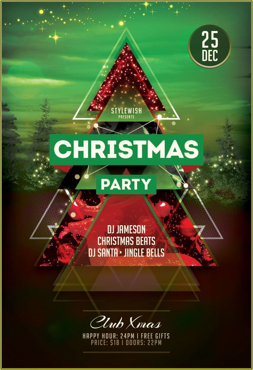 Microsoft Office Christmas Party Flyer Templates