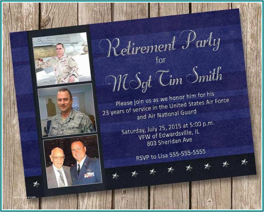 Military Retirement Invitations Templates