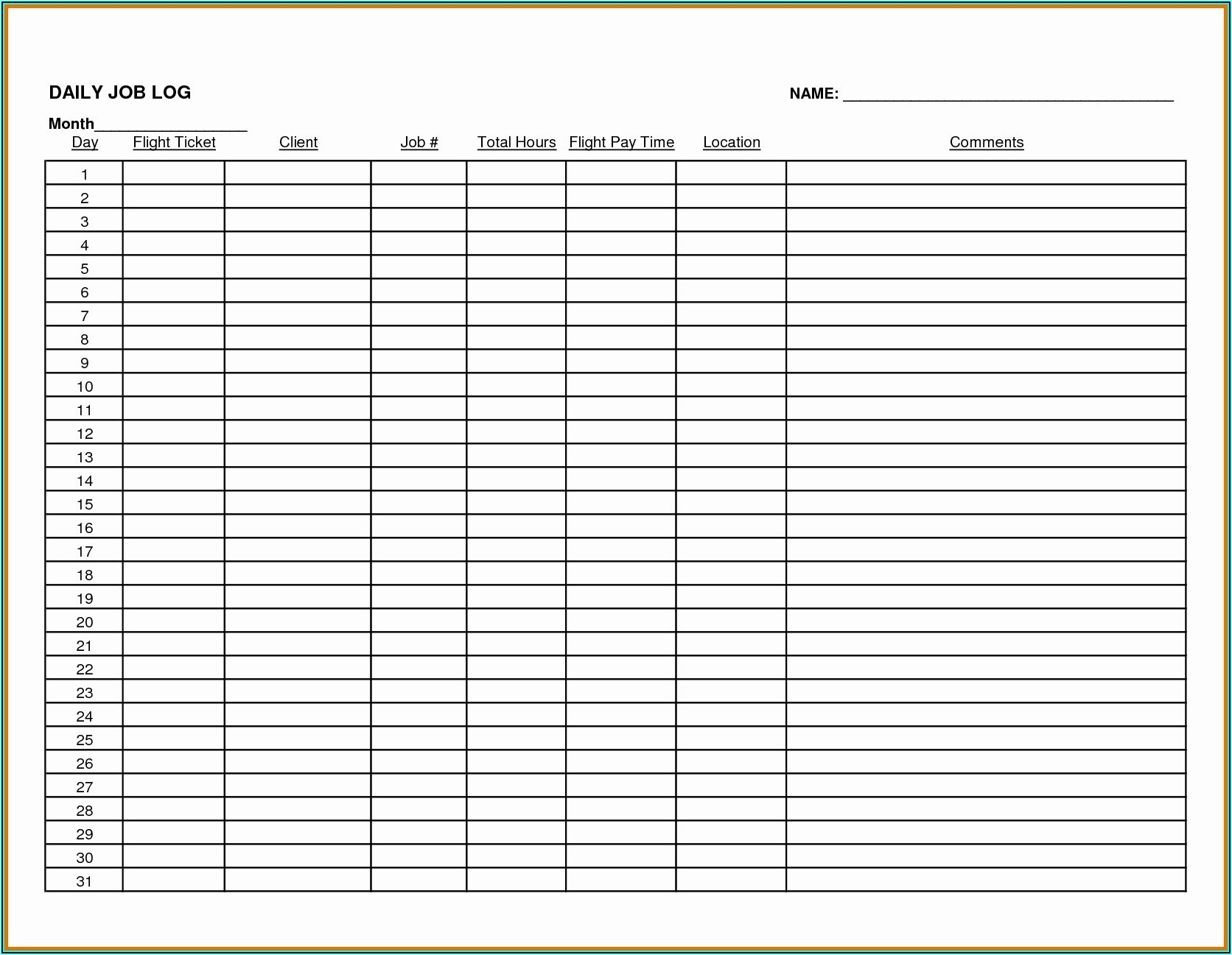Monthly Expense Tracker Template Excel
