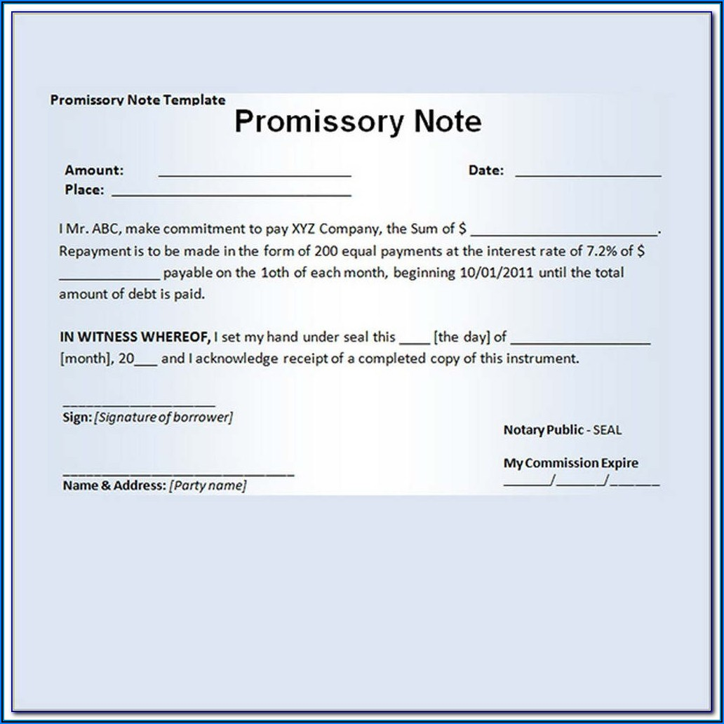 Nolo Promissory Note Template