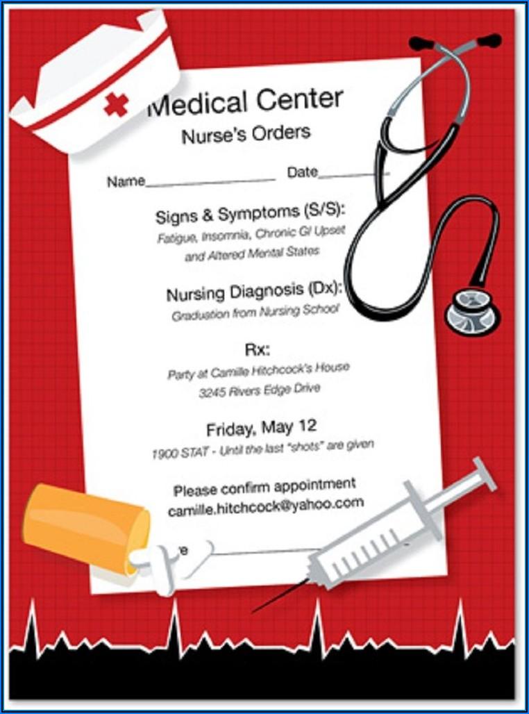 Nursing Graduation Invitations Templates