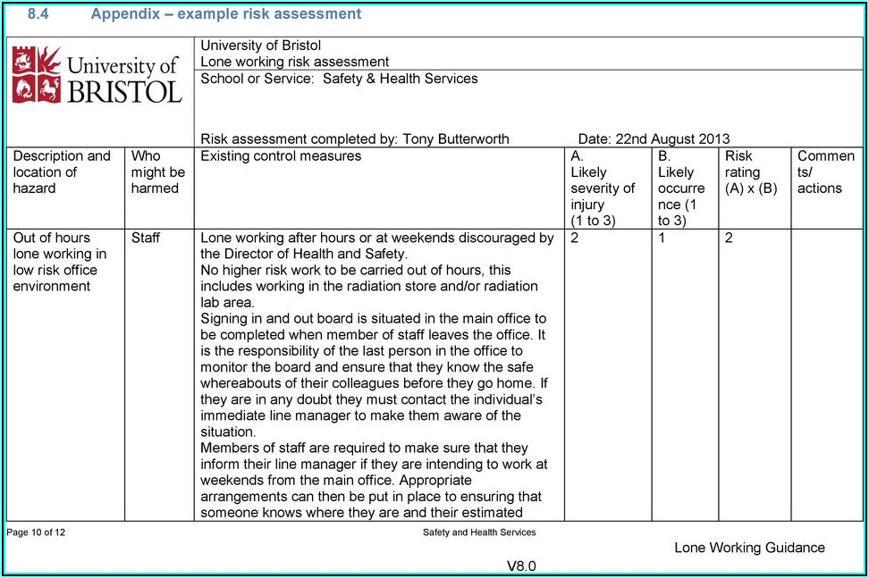 Office Lone Working Policy Template