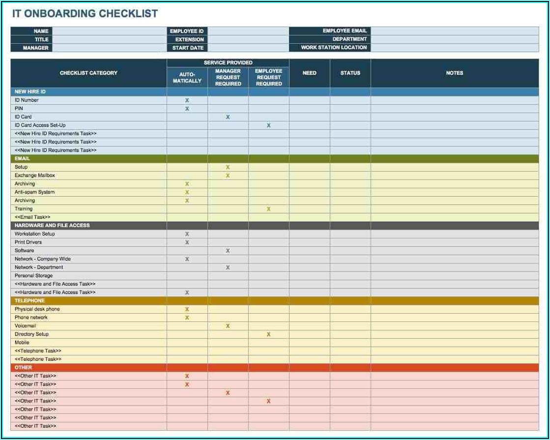 Onboarding Plan Template Excel
