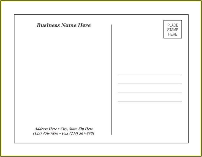 Online Template For Postcards