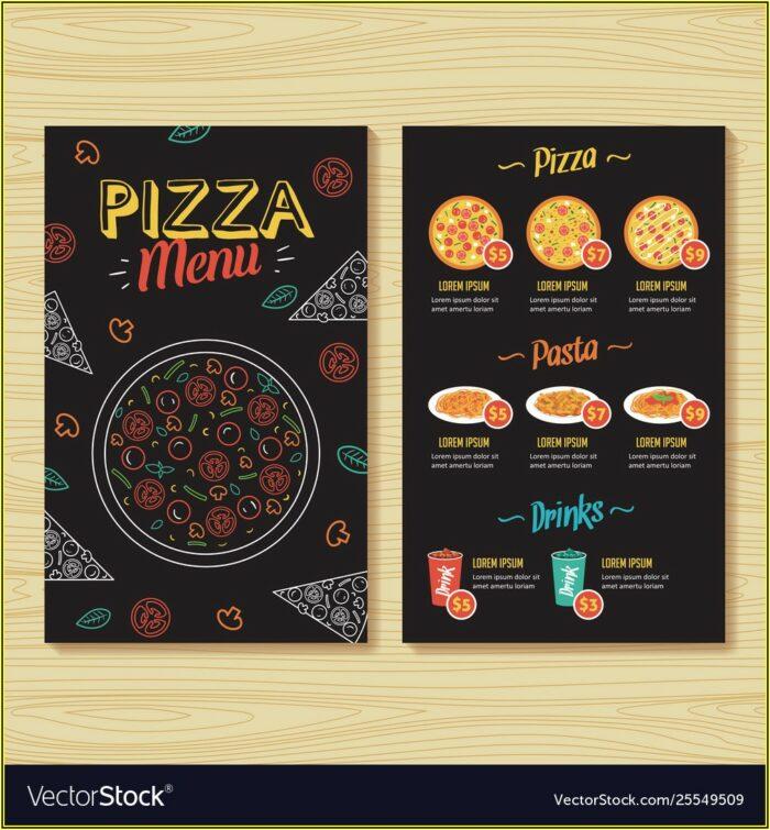 Pizza Menu Template Pdf
