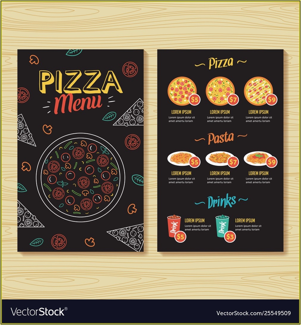 Pizza Menu Template Pdf