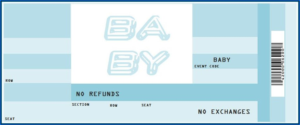 Plane Ticket Invitation Printable