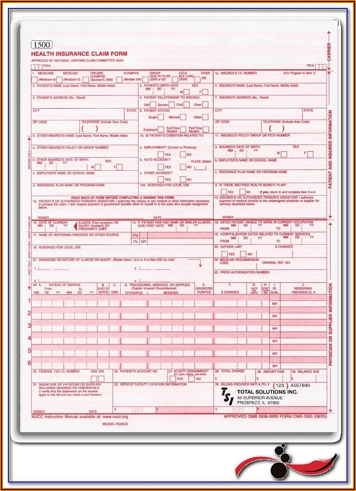 Printable Hcfa 1500 Claim Form