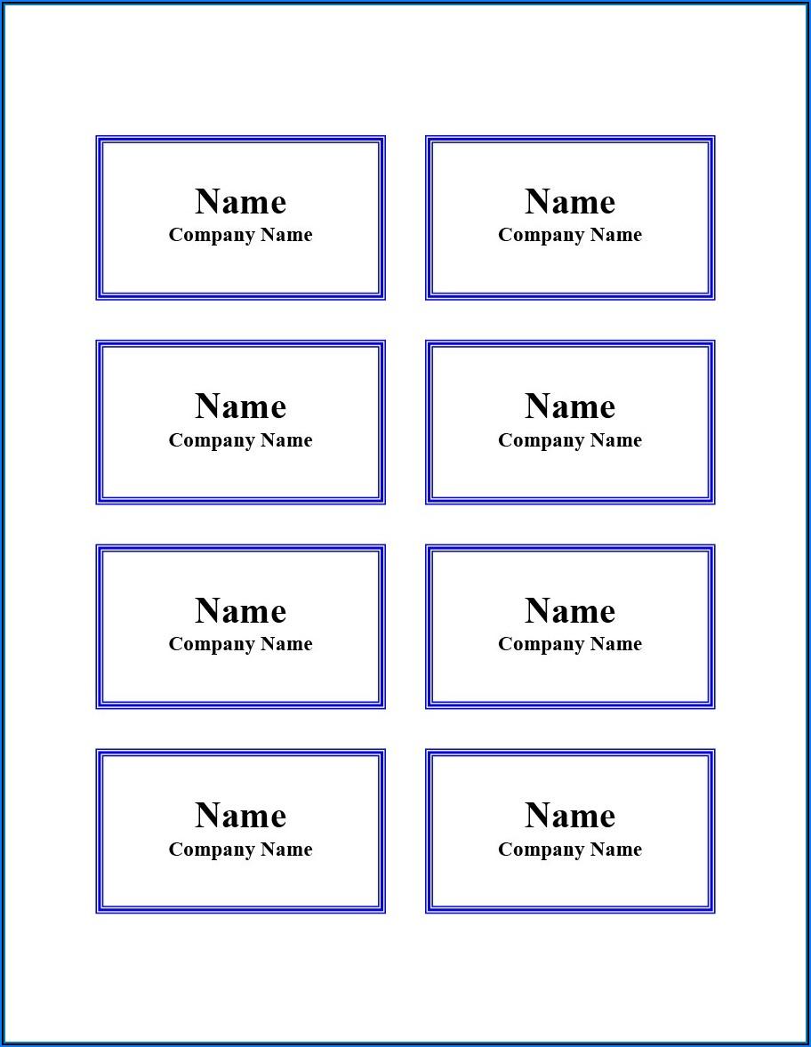 Printable Tag Template Free