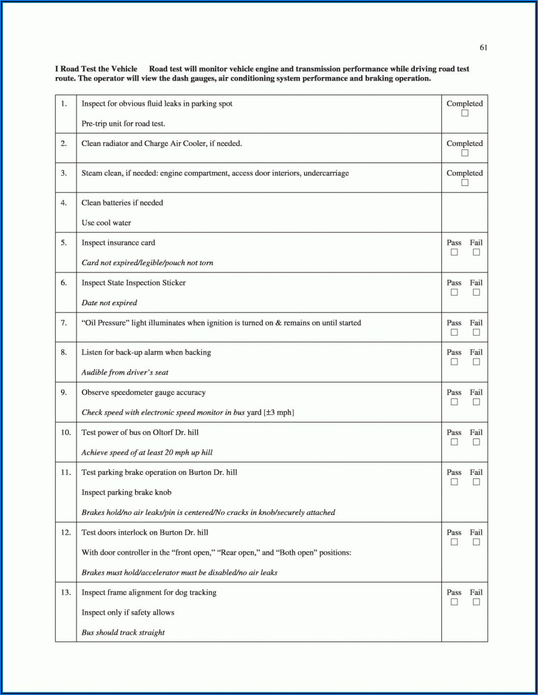 Printer Preventive Maintenance Checklist Template