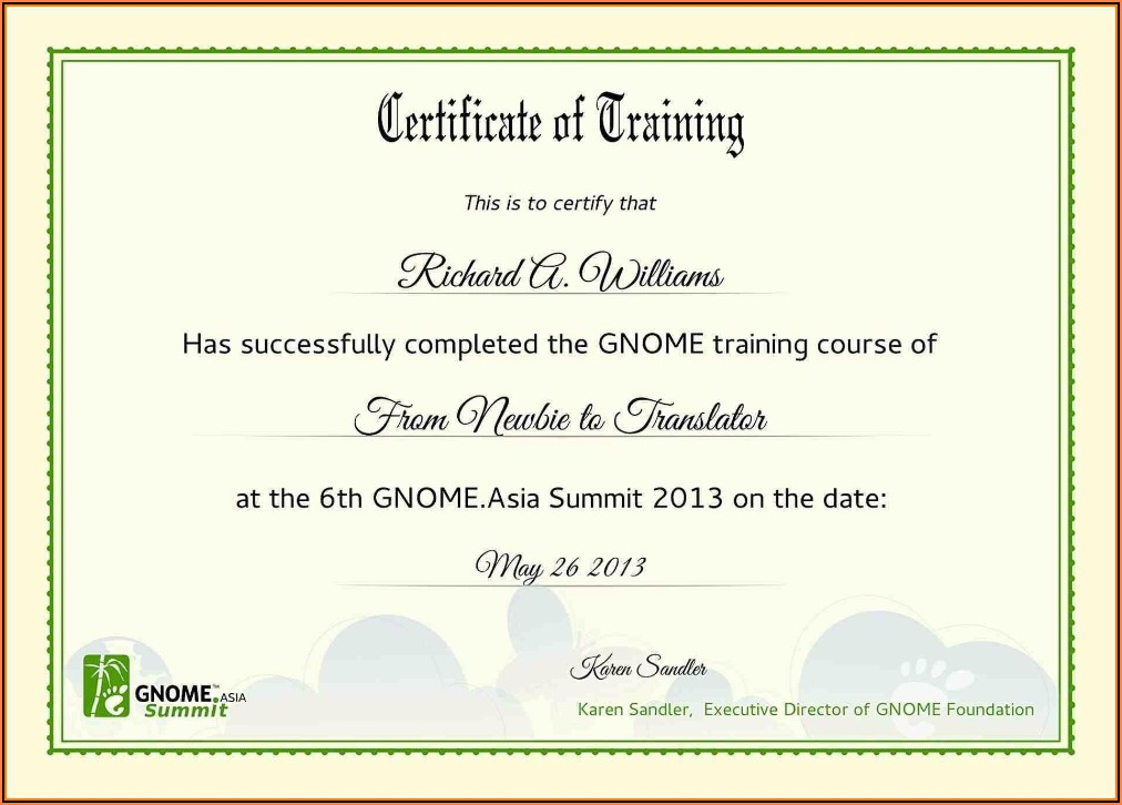 Professional Training Certificate Templates