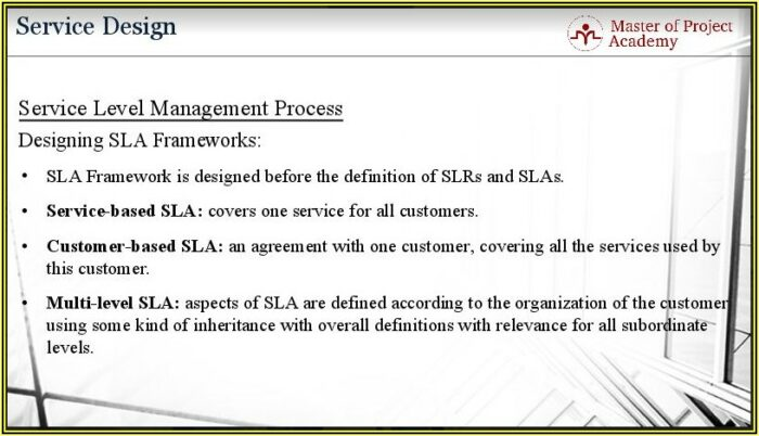 Project Management Service Level Agreement Template