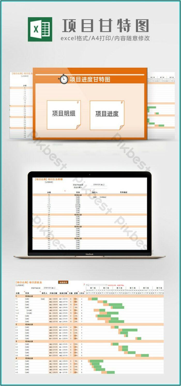 Project Schedule Gantt Chart Excel Template