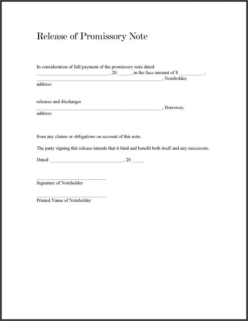 Promissory Note Car Loan Template