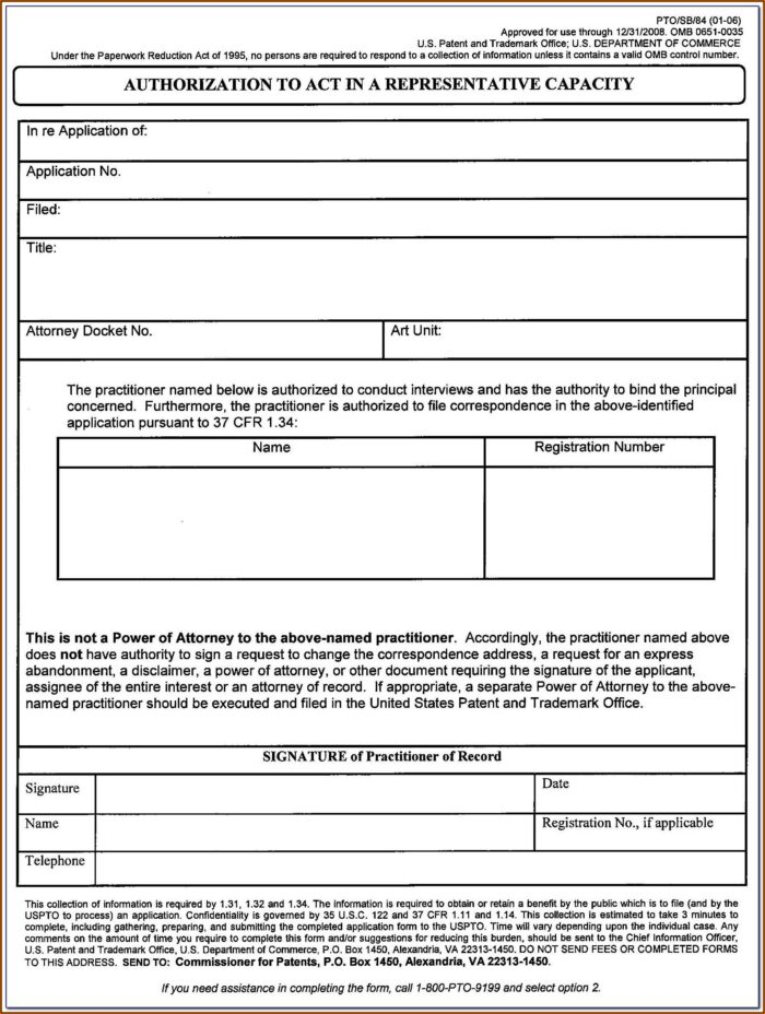 Provisional Patent Forms