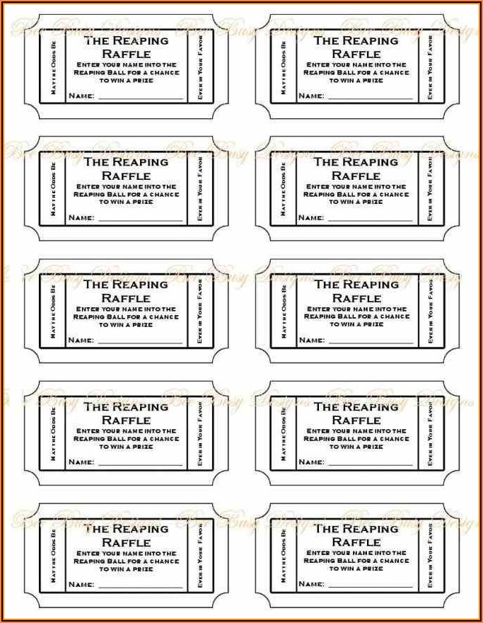 Raffle Ticket Template Free Online