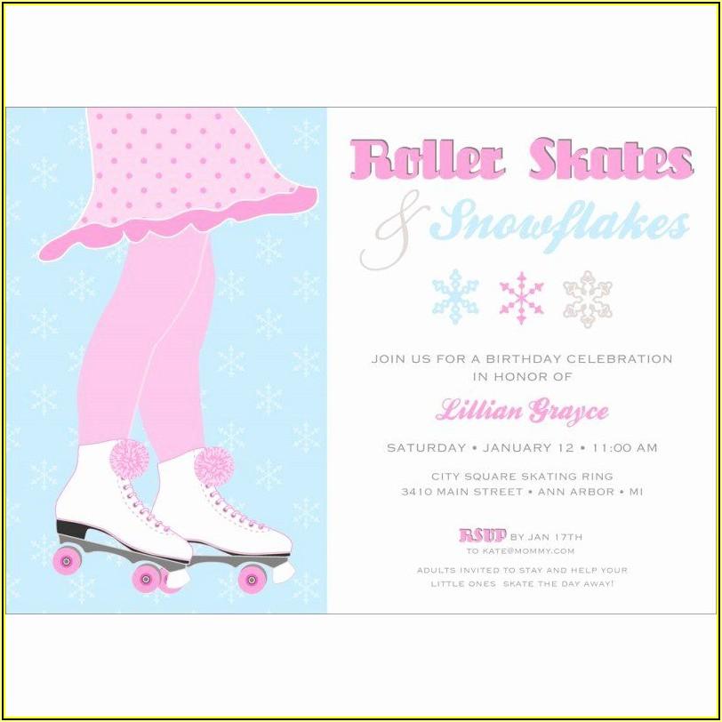Roller Skate Invitation Template