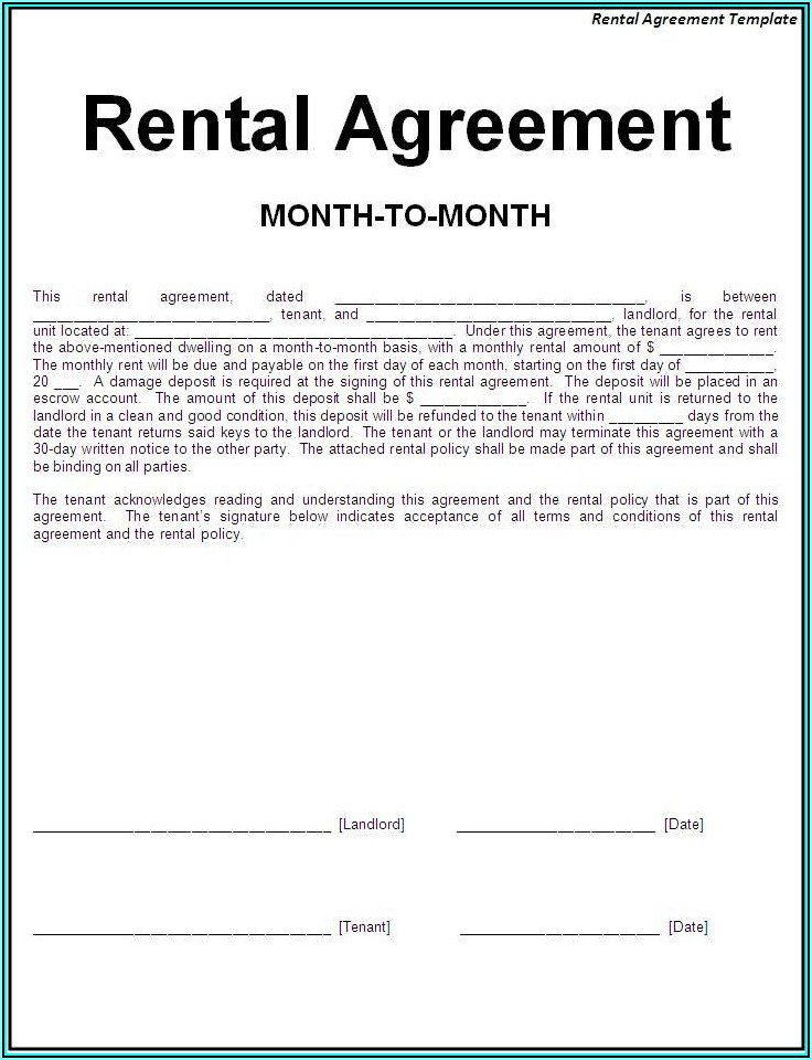 Room Lease Agreement Template Texas