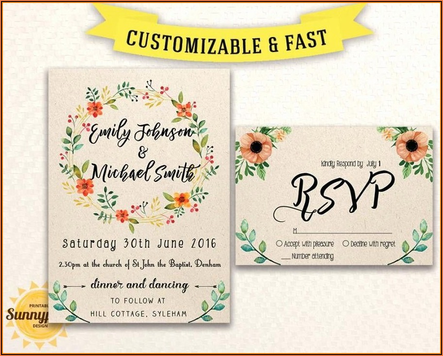 Rustic Wedding Invitation Templates Free Download