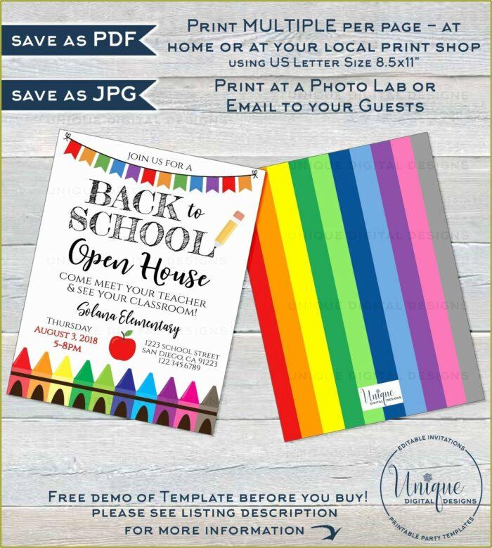 School Open Day Invitation Template