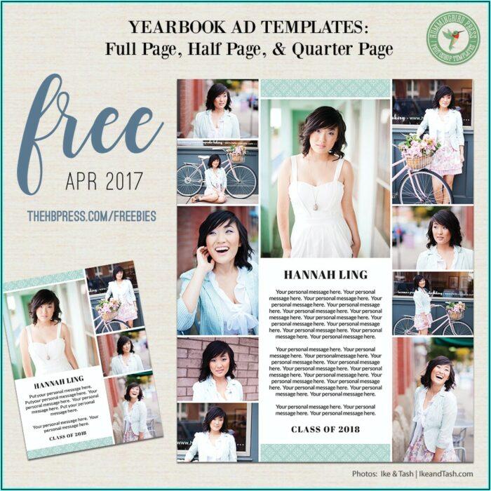 Senior Yearbook Ad Templates