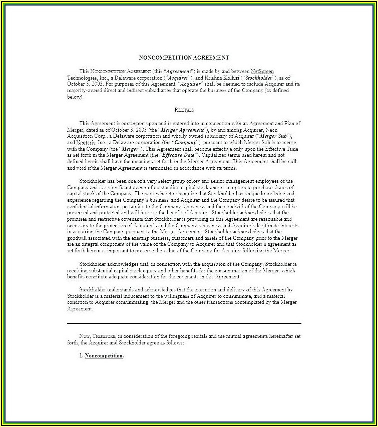 Shareholder Agreement Template Australia