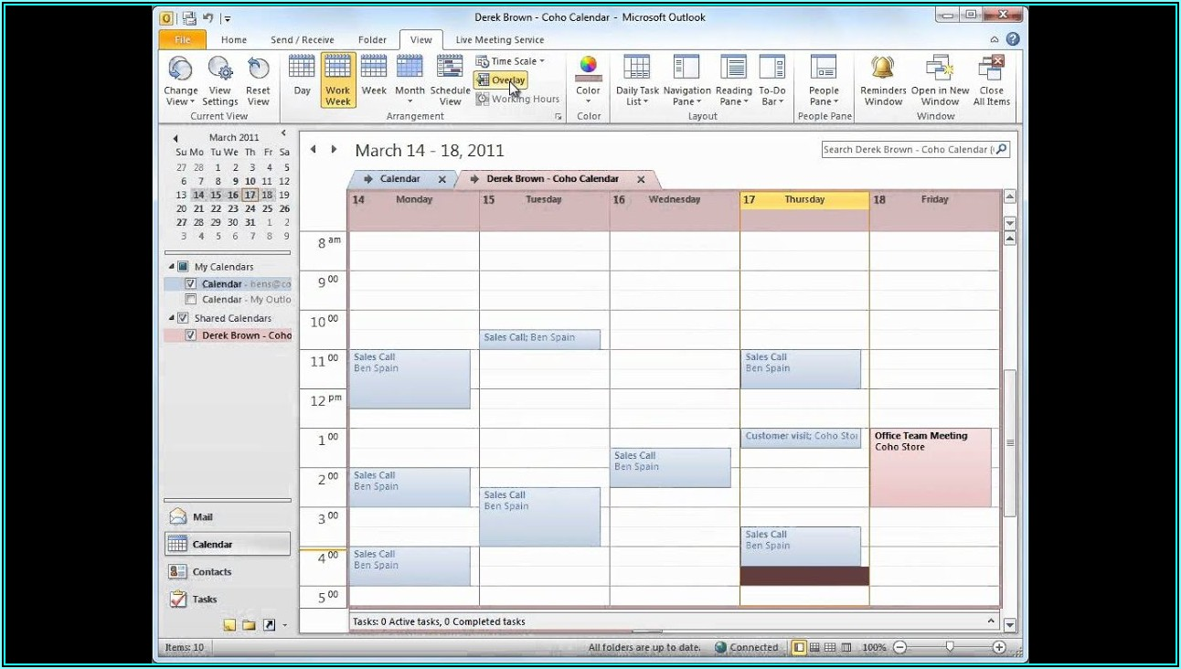 Sharepoint Staff Scheduling Template