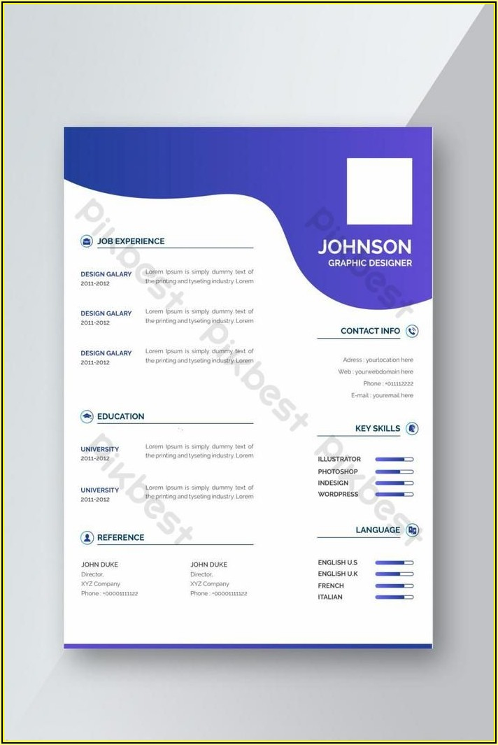 Simple Creative Resume Template Free Download