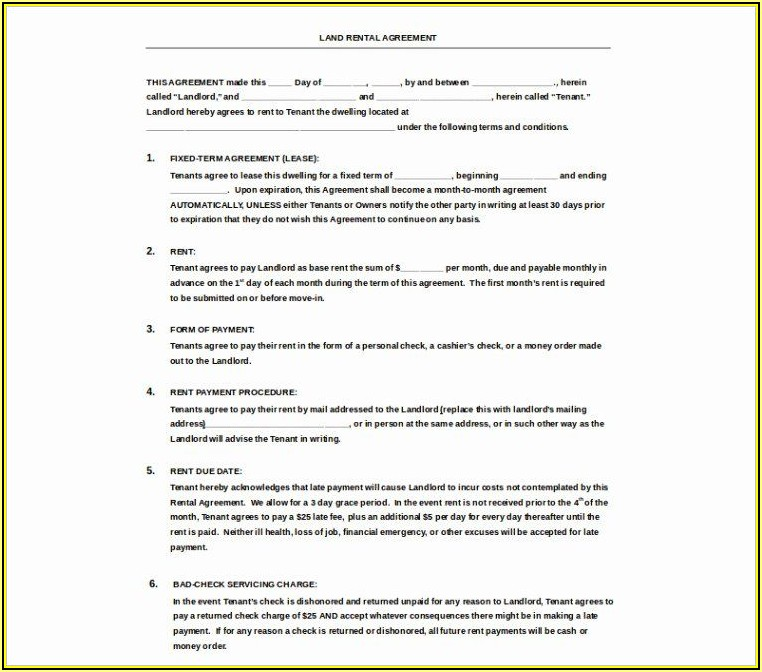 Simple Lease Agreement Template Doc