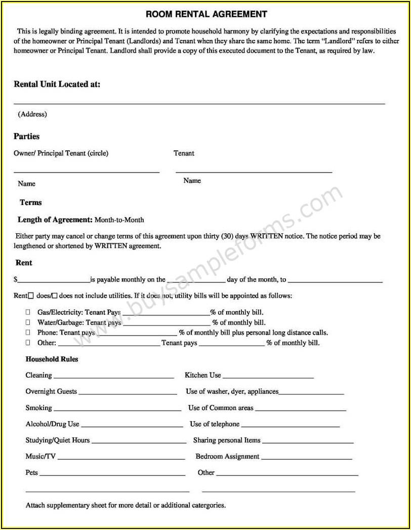 Simple Rental Agreement Template Word