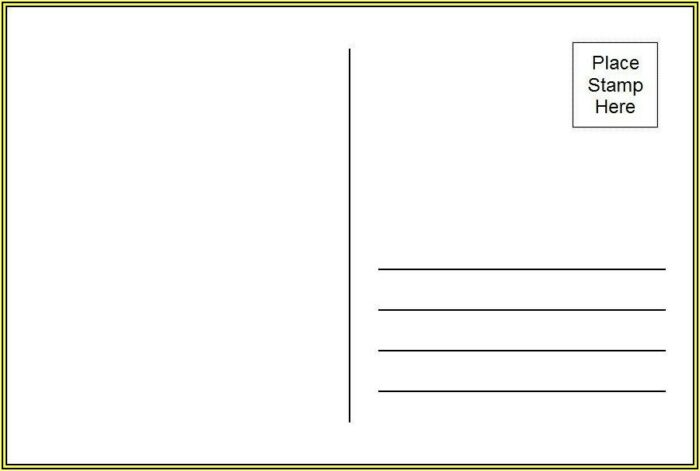 Template For Postcards In Word