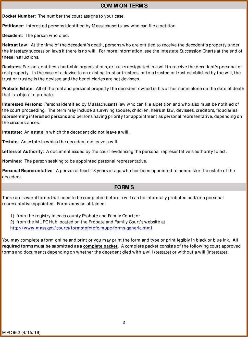Texas Probate Forms Manual
