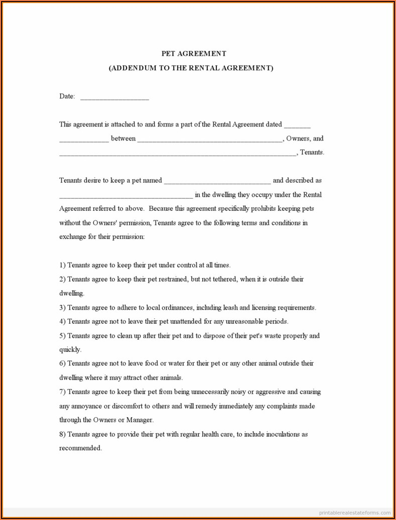 Truck Rental Agreement Form Template