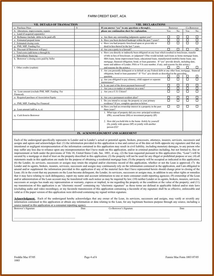 Usda Loan Application Forms